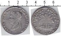 Изображение Монеты Боливия 4 соля 1855 Серебро VF Симон Боливар