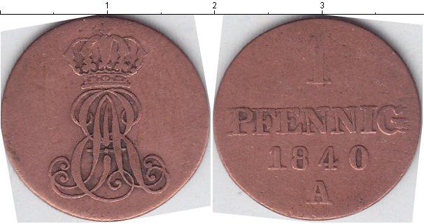Картинка Монеты Ганновер 1 пфенниг Медь 1840