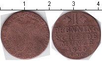 Изображение Монеты Брауншвайг-Вольфенбюттель 1 пфенниг 1823 Медь  CvC