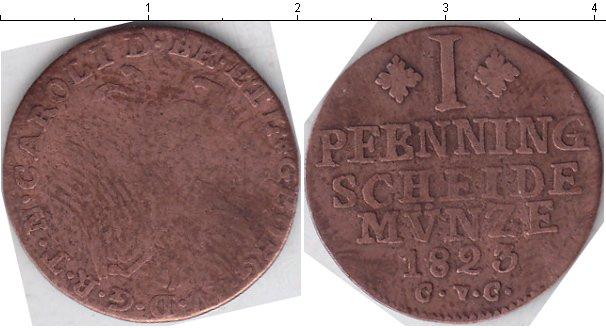 Картинка Монеты Брауншвайг-Вольфенбюттель 1 пфенниг Медь 1823