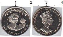 Изображение Мелочь Фолклендские острова 50 пенсов 2002 Медно-никель Proof
