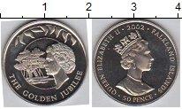 Изображение Мелочь Фолклендские острова 50 пенсов 2002 Медно-никель Proof-