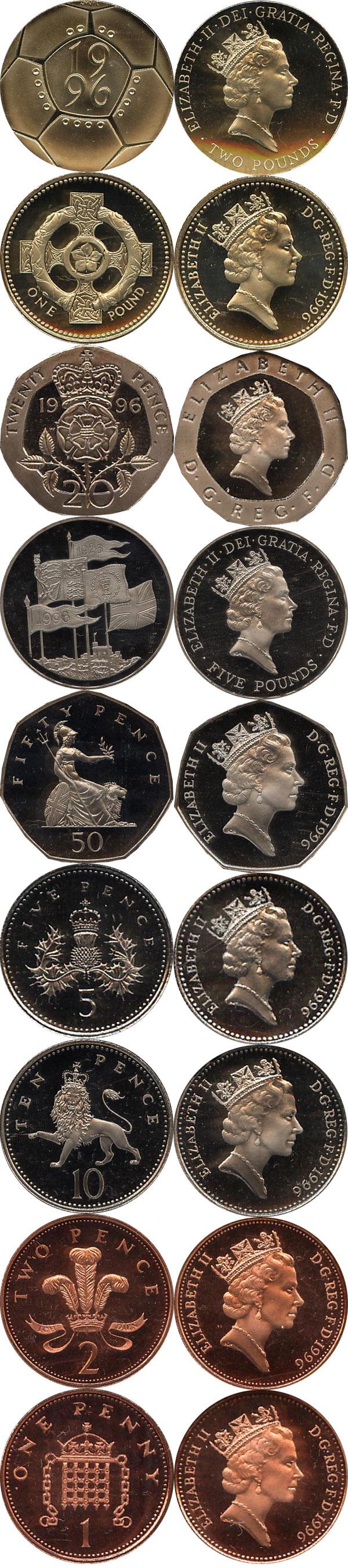 Картинка Подарочные наборы Великобритания Набор 1996 года  1996