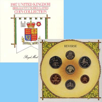 Изображение Подарочные наборы Великобритания Набор 1987 года 1987  AUNC Подарочный набор 198