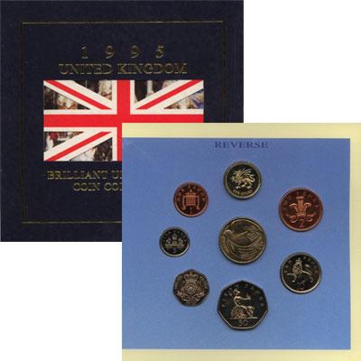 Изображение Подарочные монеты Великобритания 50-летие окончания II Мировой войны 1995  UNC Подарочный набор пос