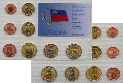 Изображение Наборы монет Лихтенштейн Пробный евро-набор 2004 2004  UNC Подарочный набор про