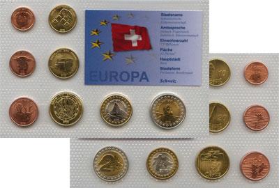 Изображение Наборы монет Швейцария Пробный евро-набор 2003 2003  UNC Подарочный набор про
