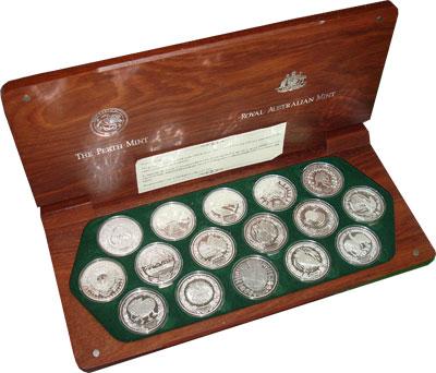 Изображение Подарочные монеты Австралия Олимпийские игры в Сиднее 2000 2000 Серебро Proof `Подарочный набор по