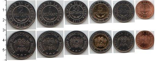 Изображение Наборы монет Боливия Боливия 2010 г 0  AUNC В наборе 6 монет ном
