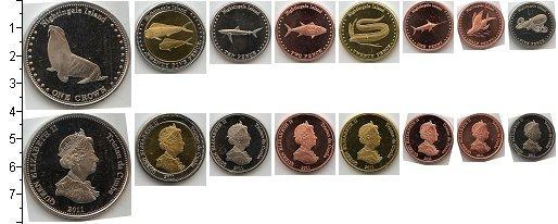 Изображение Наборы монет Тристан-да-Кунья Тристан-да-Кунья (Найтингейл) 2011  AUNC В наборе 8 монет ном