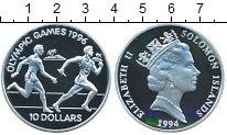 Изображение Монеты Соломоновы острова 10 долларов 1996 Серебро Proof- Олимпиада 1996