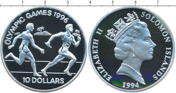 Картинка Монеты Соломоновы острова 10 долларов Серебро 1996
