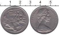 Изображение Мелочь Австралия 20 центов 1976 Медно-никель  Елизавета II