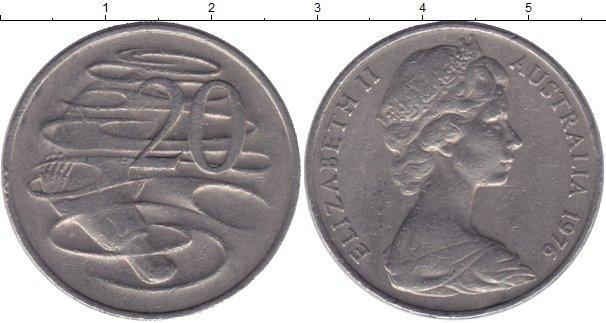 Картинка Мелочь Австралия 20 центов Медно-никель 1976