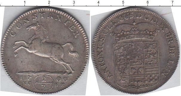 Картинка Монеты Брауншвайг-Вольфенбюттель 2/3 талера Серебро 1706