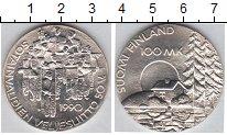 Изображение Монеты Финляндия 100 марок 1990 Серебро UNC 50-летие Организации