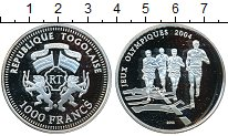 Изображение Монеты Того 1000 франков 2004 Серебро Proof- Олимпиада 2004