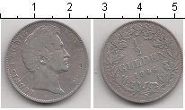 Изображение Монеты Баден 1/2 гульдена 1846 Серебро