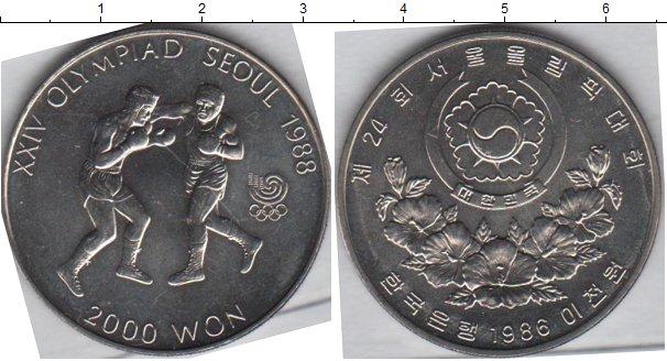 Картинка Мелочь Южная Корея 2.000 вон Медно-никель 1986