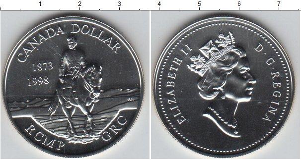 Картинка Монеты Канада 1 доллар Медно-никель 1998