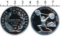 Изображение Монеты Турция 2500000 лир 1998 Серебро Proof- Олимпийские игры 200
