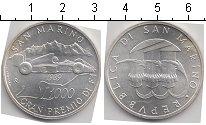 Изображение Монеты Сан-Марино 1.000 лир 1989 Серебро UNC- Гран-при Сан-Марино