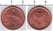 Изображение Мелочь ЮАР 5 центов 2007 Медь XF