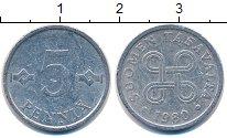 Изображение Мелочь Финляндия 5 пенни 1980 Алюминий XF