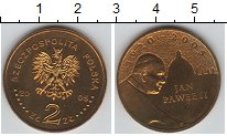 Изображение Мелочь Польша 2 злотых 2005 Медно-никель UNC- Иоан Павел II