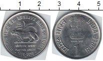 Изображение Мелочь Индия 1 рупия 2010 Медно-никель XF
