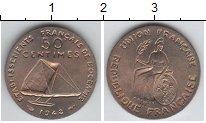 Изображение Монеты Океания 50 сантим 1948 Медно-никель UNC Пробник. Редкость
