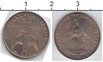 Изображение Монеты Новая Каледония 50 сантим 1948 Медно-никель XF Пробник. Редкость