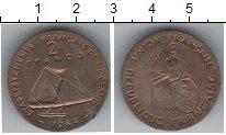 Изображение Монеты Океания 2 франка 1948 Медно-никель UNC Пробник. Редкость
