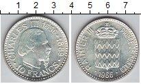 Изображение Монеты Монако 10 франков 1966 Серебро XF