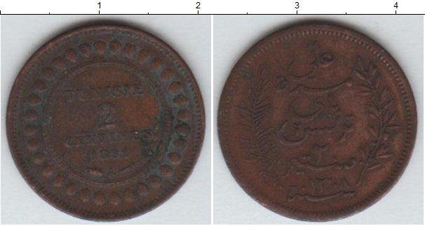 Картинка Монеты Тунис 2 сантима Медь 1891