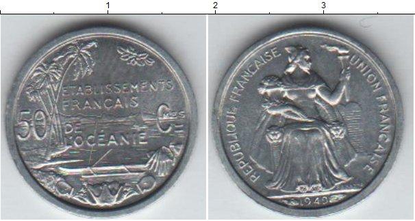 Картинка Мелочь Океания 50 сантим Алюминий 1949