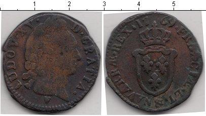 Картинка Монеты Франция 1 соль Медь 1769