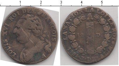 Картинка Монеты Франция 12 денье Медь 1793