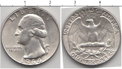 Каталог монет сша 1/4 доллара серебро купить или заказать за.