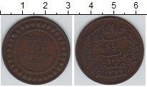 Изображение Монеты Тунис 10 сантим 1911 Медь XF Французский протекто