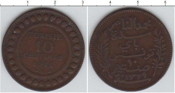 Картинка Монеты Тунис 10 сантим Медь 1911