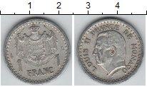 Изображение Монеты Монако 1 франк 1943 Алюминий XF