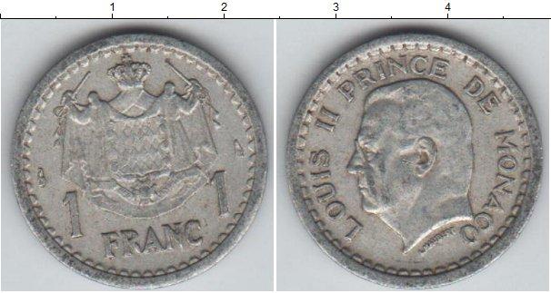 Картинка Монеты Монако 1 франк Алюминий 1943
