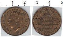 Изображение Мелочь Монако 20 франков 1950 Медь XF
