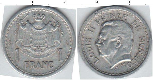 Картинка Мелочь Монако 1 франк Алюминий 1943