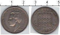 Изображение Мелочь Монако 100 франков 1956 Медно-никель XF Князь Ренье III
