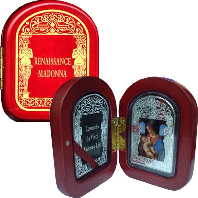 Изображение Подарочные монеты Андорра Леонардо да Винчи, Мадонна Литта с ребёнком 2011 Серебро Proof `Подарочная монета п