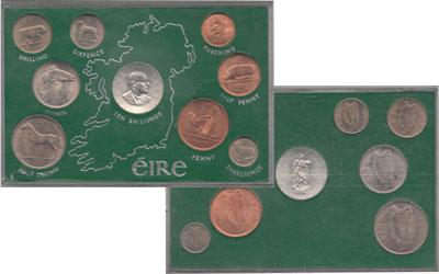 Изображение Подарочные монеты Ирландия Выпуск 1966 года 1966   Выпуск монет 1966 го