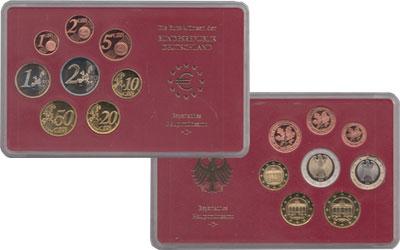 Изображение Подарочные монеты Германия Евронабор 2002, Чеканка Мюнхен 2002  Proof Евронабор 2002 года,
