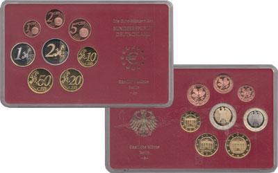 Изображение Подарочные монеты Германия Евронабор 2002, Чеканка Берлин 2002  Proof Евронабор 2002 года,